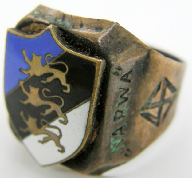 "Waffen SS/ Anillo de la ""SS Legión Estonia"", ""Btl. Narwa"""