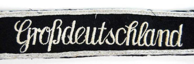 """Cinta de Tropa de la División """"Grossdeutschland"""""""