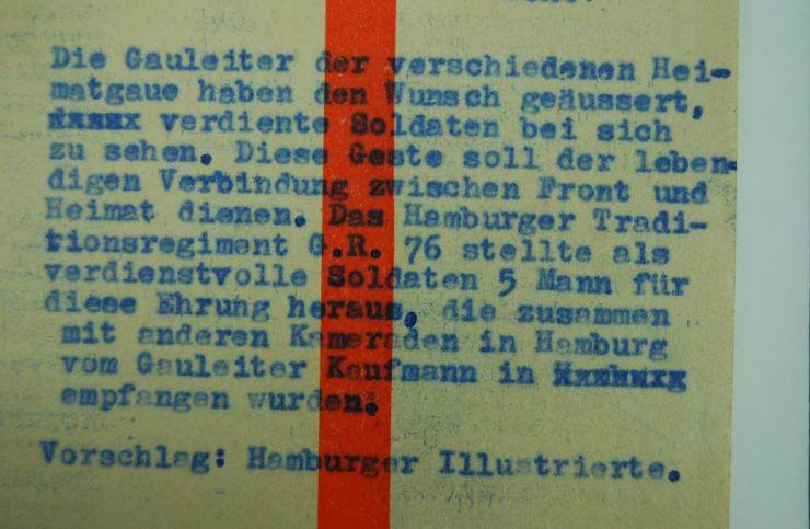 """Foto de Prensa del """"Uffz. Josef Weisbach"""""""