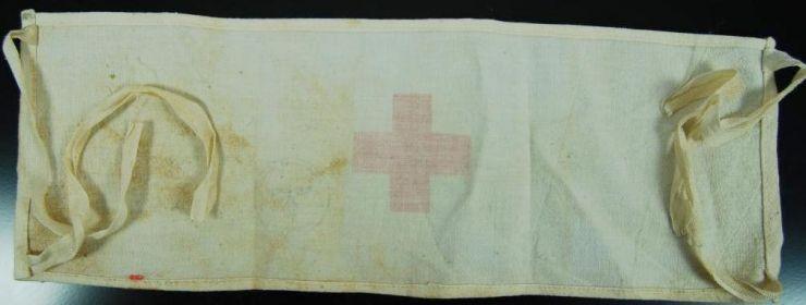 Waffen SS/ Brazalete de Sanitario con Sello de Unidad de Stalingrado