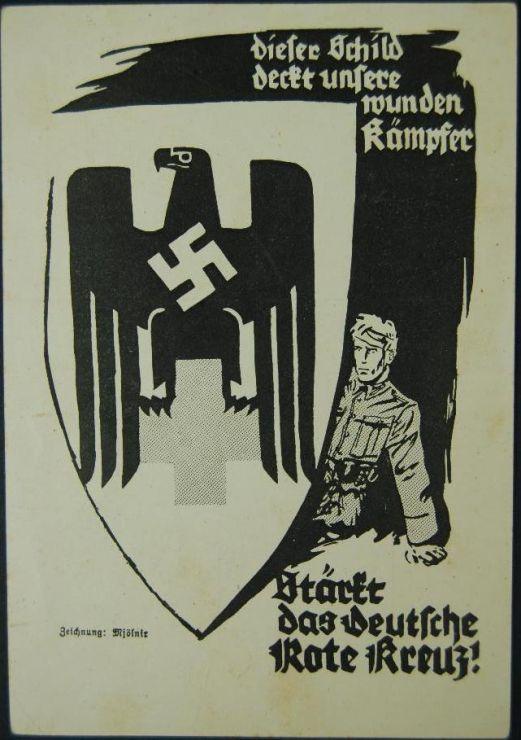 Tarjeta Postal de la Cruz Roja Alemana de 1940