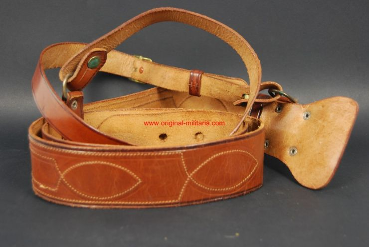 "Cinturón Modelo ""Sam Browne"" de Oficial"