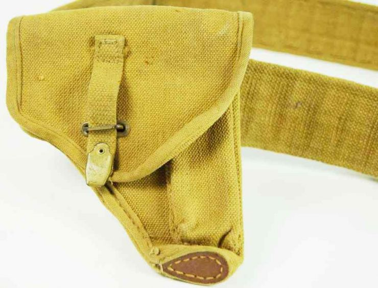 Cinturón de Oficial Italiano de WW2 con Funda para Beretta