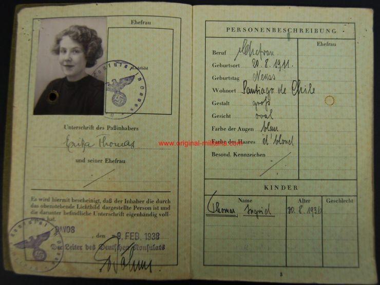 Pasaporte Alemán para una Mujer Visado en Suiza