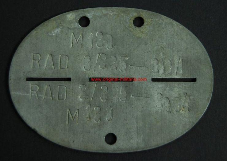 RAD/ Chapa de Identificación