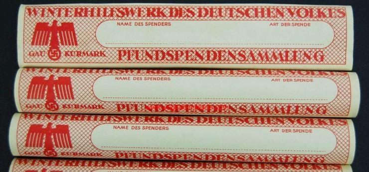"""Etiqueta del """"Winterhilfswerk des Deutschen Volkes"""""""