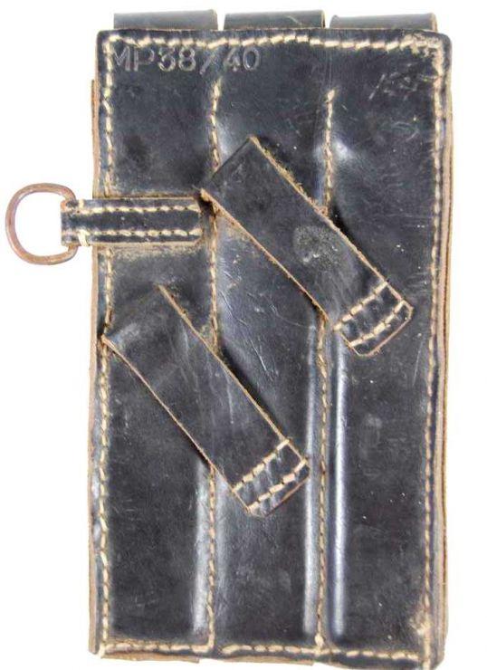 Porta-cargadores en Cuero para el MP38-40