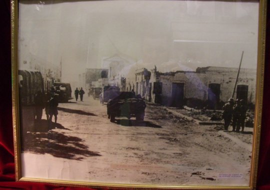 Gran foto Afrika korps de epoca enmarcada.