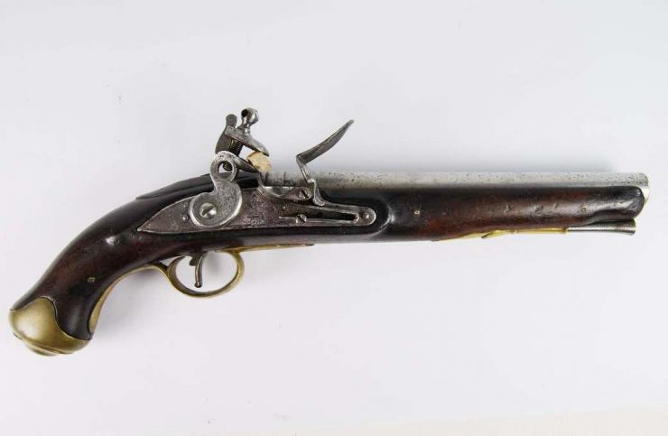 Pistola Militar Inglesa de Pedernal Tower