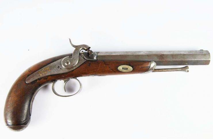 Pistola Militar de Percusión.