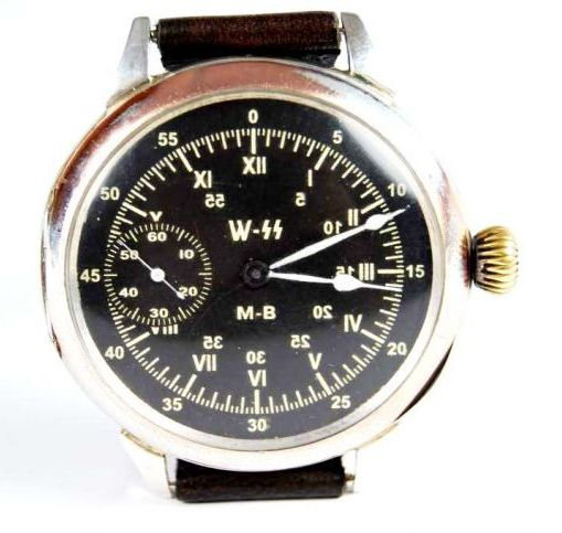 Luftwaffe/Waffen-SS, Reloj de Pulsera de Plata Pre-1939
