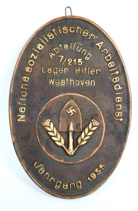 Placa del Cuartel del RAD en Westhoven