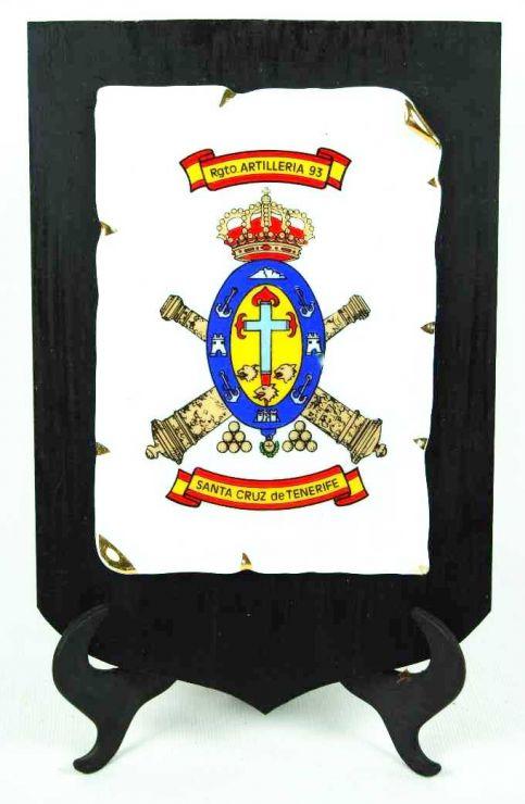 Metopa del Regt. Artillería 93 de Tenerife