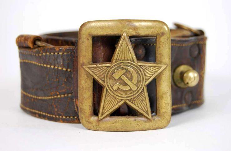 Cinturón M35 para Comandantes del RKKA con Hebilla de Estrella