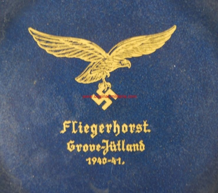 "LW/ Plato Conmemorativo ""Fliegerhorst Grove"""