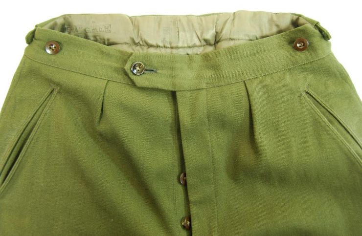 """WH/DAK, Pantalones de Montar M42 fabricados por """"BEHA"""" en Berlín en el año 1942"""