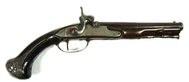 Pistola Catalana Transformada Circa 1800