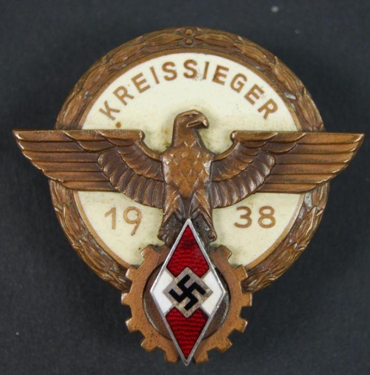 """HJ/DAF, Distintivo de Kreissieger """"1938"""""""