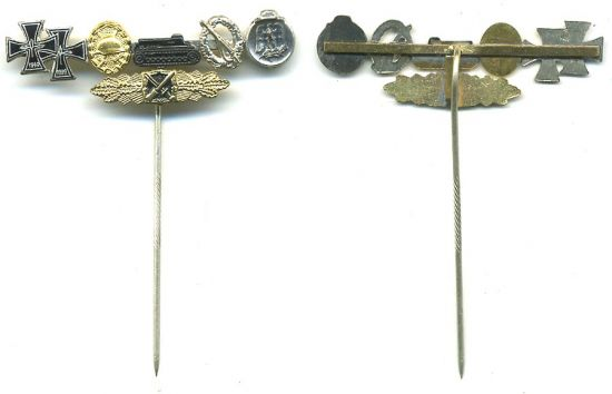 Pasador de Aguja con Condecoraciones en Miniatura.