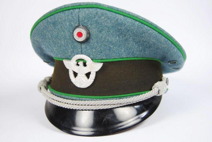 Gorra de Plato de Oficial de Policía