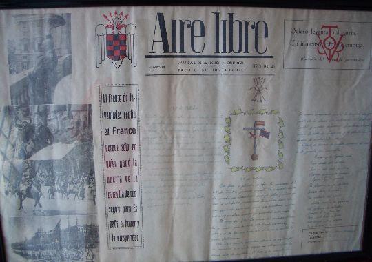 Lamina manuscrita enmarcada de época de campamentos del frente de juventudes.