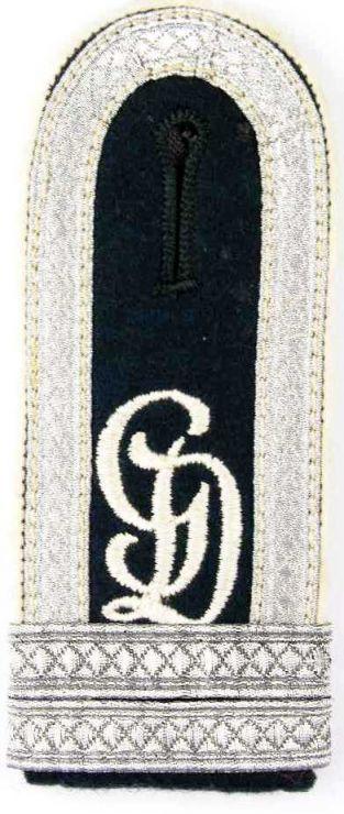 """Hombrera de Sargento de Infanteria Candidato a Oficial de la División """"Grossdeutschland"""""""