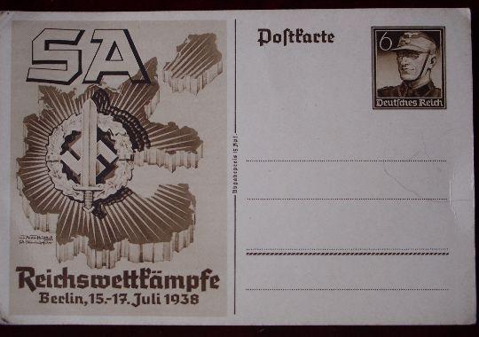 """Tarjeta Postal de las SA """"Sturmabteilung"""""""