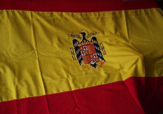 Bandera de España con Águila Imperial