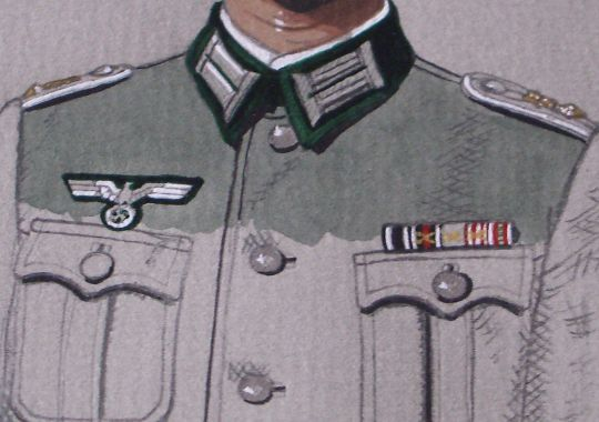 Dubujo Original de Oficial de Infantería