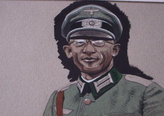 Dibujo Original de Leutnant de Infantería