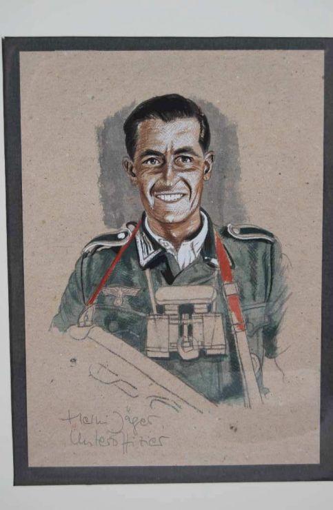 Dibujo Original de Unteroffizier de Infantería