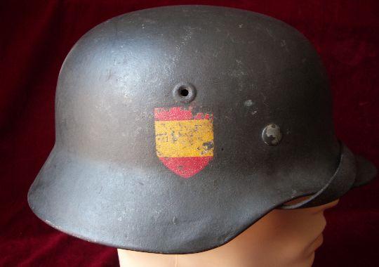 Casco M40 División Azul.