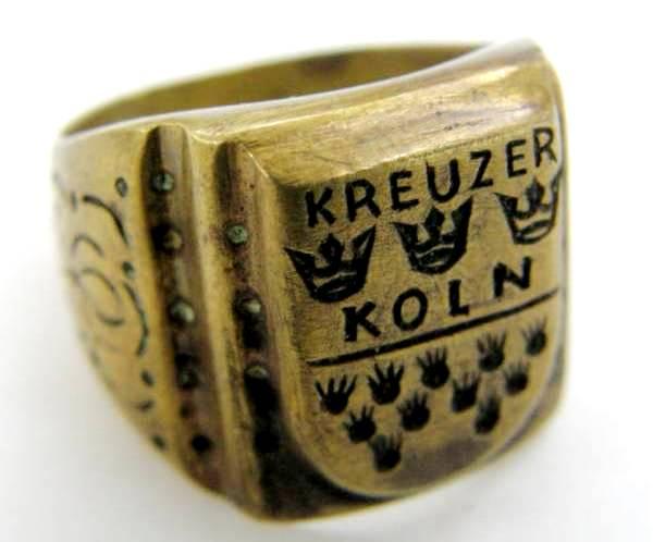"""KM/ Anillo de Cobre de un Miembro del """"kreuzer koln"""""""
