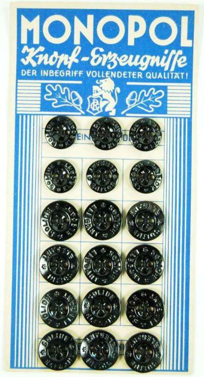 """WH, Cartón con 18 Botones de Cristal """"Solide Elegant"""""""