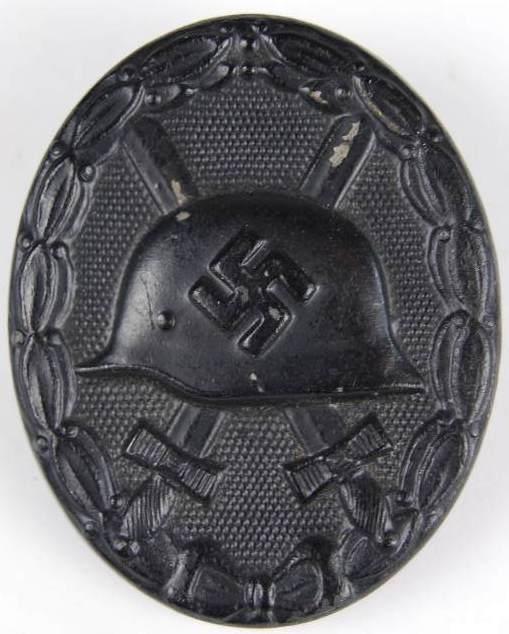 Distintivo de Herido en Negro ww2.