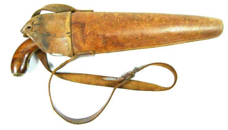 Pistola Belga de 2 Cañones con Funda de Escolta de Carrozas
