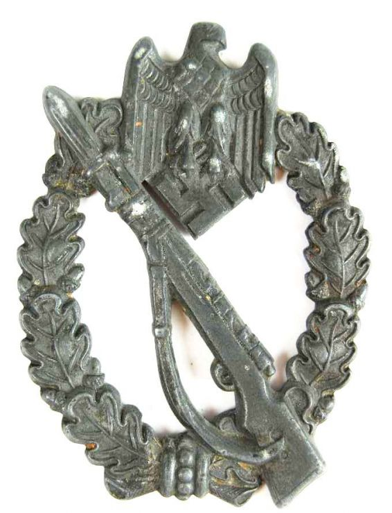 Distintivo de Asalto de Infantería en Zinc