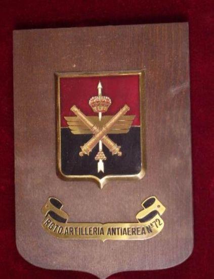Metopa  Años 70 del 72 Rgto. de Artillería Antiaerea.