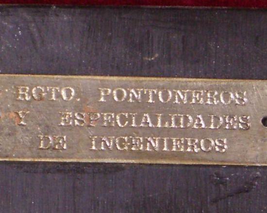 Metopa  Años 70 del Centenario de Rgto. Pontoneros