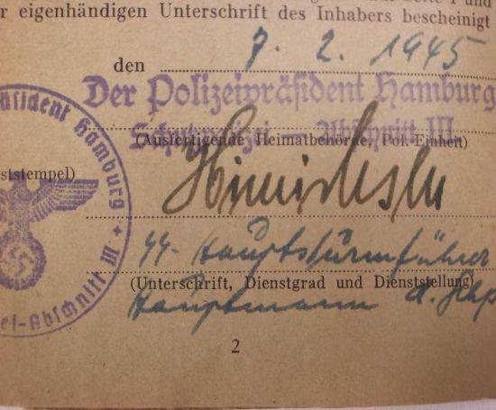 Soldbuch de la SS Polizei
