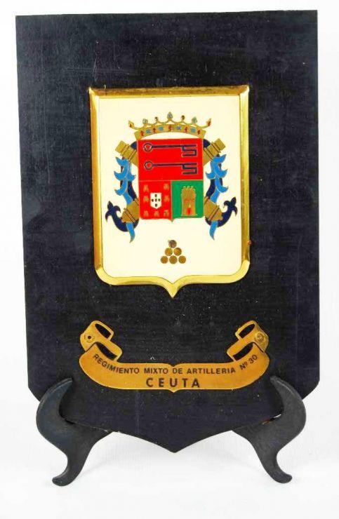 Metopa del Reg. Mixto de Artillería 30 de Ceuta