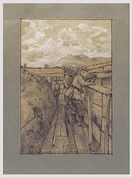Dibujo de Walter Hess de WW1