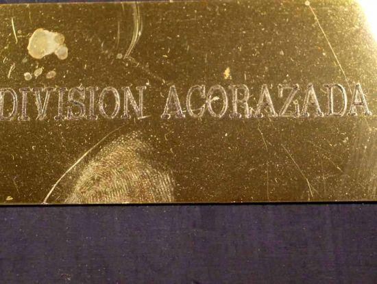 Metopa de la Agrupación Logística Nº 1 de la División Acorazada