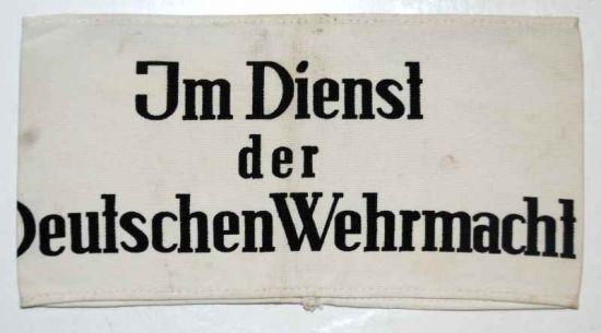 Brazalete de Servicio en la Wehrmacht