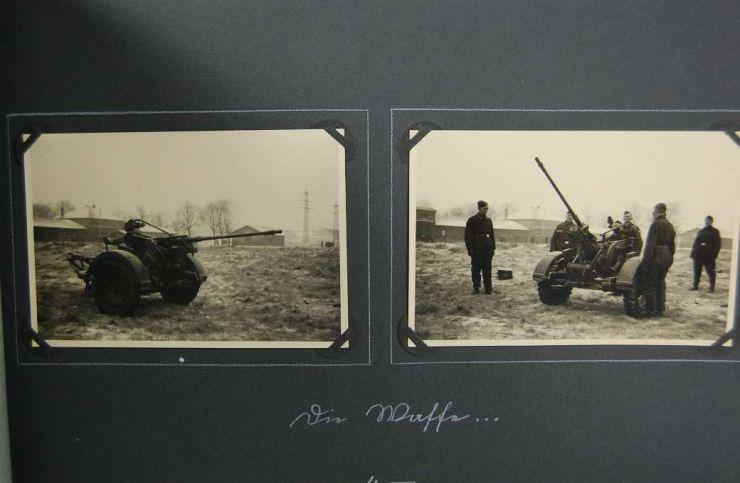 """Luftwaffe, Grupo de Concesiones con la Medallas , Pase del Gross-Paris y Albúm del Stabsgefreien """"Georg Samhofer"""""""
