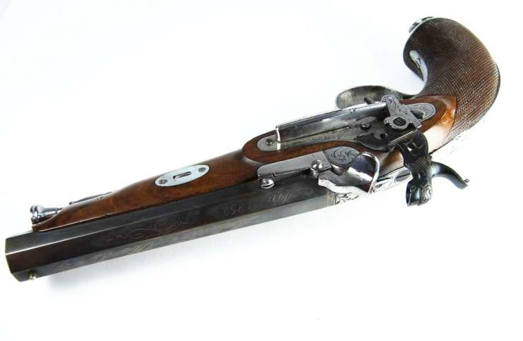 """Pistola de Pistón de """"Antonio Alberdi"""" Eibar, 1852"""