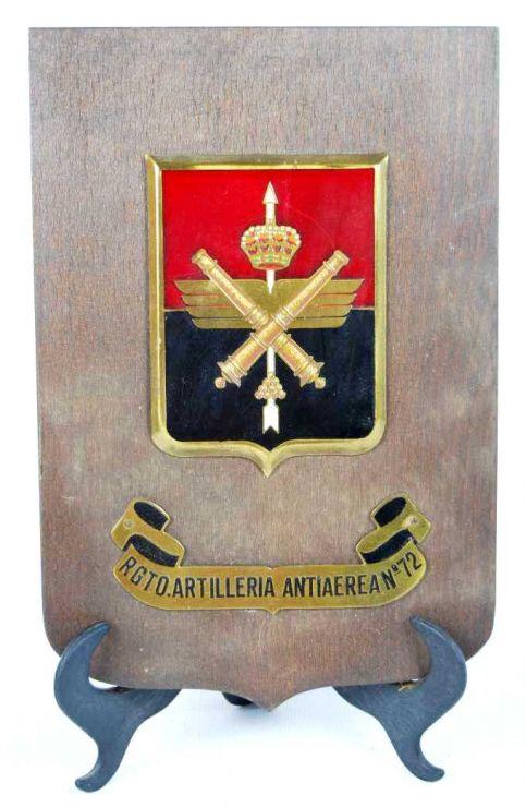 Metopa del Reto. Artillería Antiaerea Nº 72