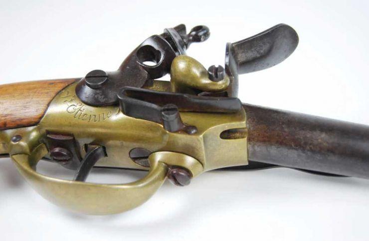 Pistola Reglamentaría Francesa de Caballería M1777, 1er Modelo