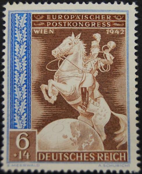 """Sello """"Europäischer, Postkongress Wien 1942"""""""