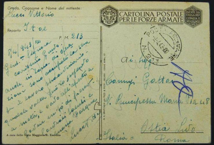 """Postal de las """"Las Fuerzas Armadas Italianas"""""""